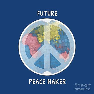 Unschooling Digital Art - Future Peace Maker by Liesl Marelli