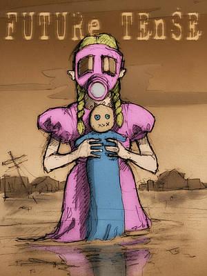 Little Girl Digital Art - Future Tense by H James Hoff