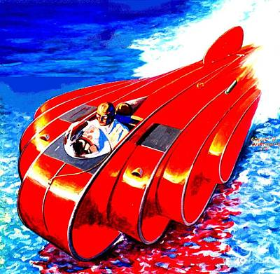 Painting - Future Water Car by Dwight Goss
