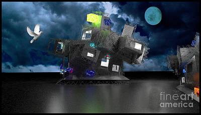 Old School Houses Digital Art - Future World by Eelco Kruithof