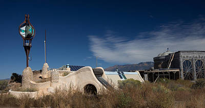 Earthship Photograph - Futuristic Architectural Design by Spirit Vision Photography