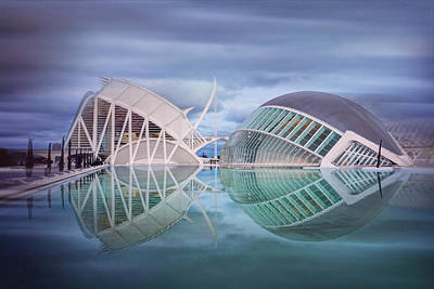 Photograph - Futuristic Architecture Of Modern Valencia Spain  by Carol Japp