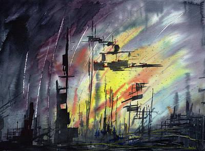 Futuristic Cityscape Art Print