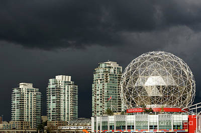 Photograph - Futuristic Cityscape Vancouver by John  Mitchell