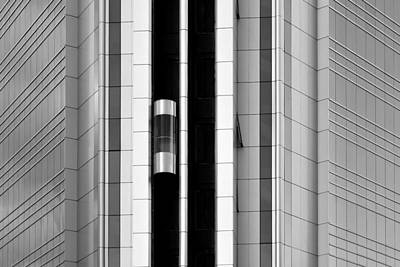 Photograph - Futuristic Elements Monochrome by Marek Stepan