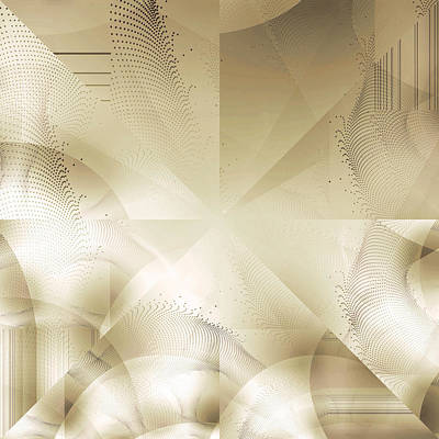 Photograph - Futuristic Gold Abstract by Robert G Kernodle