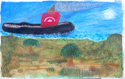 Painting - Futuristic Slave Ship Of North Island Slaves by Sirron Kyles