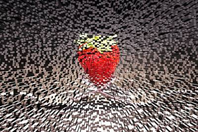 Restaurant Inspired Art Photograph - Futuristic Strawberry by Clare Bevan