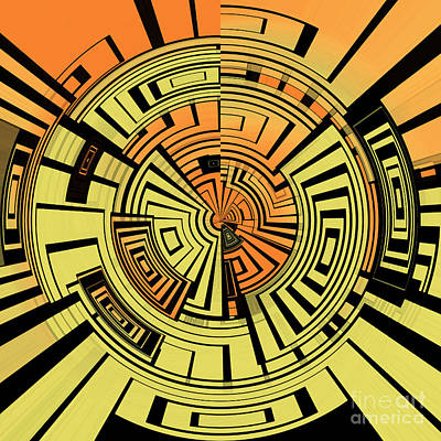 Futuristic Tech Abstract Art Print by Gaspar Avila