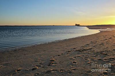 Fuzeta Beach Sunset Scenery. Portugal Art Print by Angelo DeVal