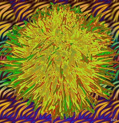 Fuzzy Digital Art - Fuzz Wave by Debra     Vatalaro