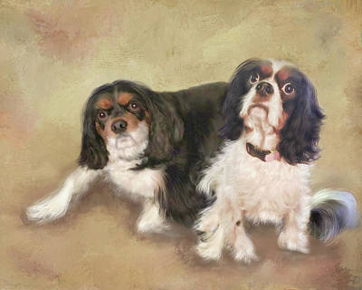 Mixed Media - Fuzzy And Dottie by Colleen Taylor