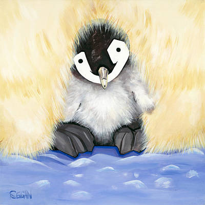 Fuzzy Baby Art Print by Michelle  Eggan
