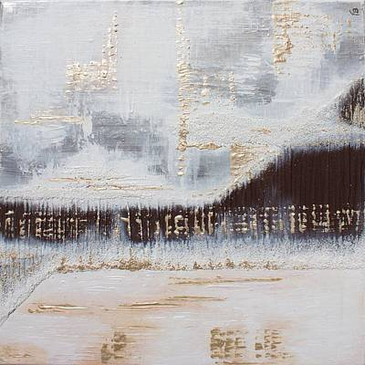 Raw Umber Painting - Fuzzy Boundaries by Francesca Borgo