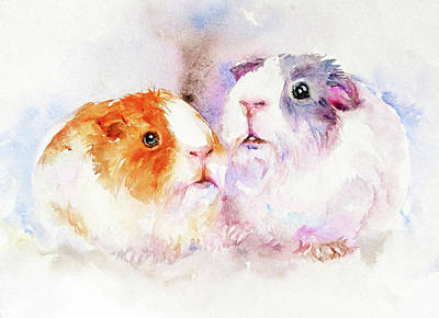 Hamster Painting - Fuzzy Buddies by Arti Chauhan