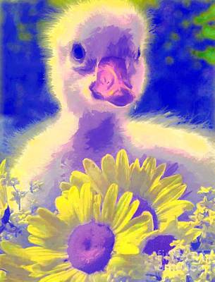 Fuzzy Digital Art - Fuzzy Ducky by Catherine Lott