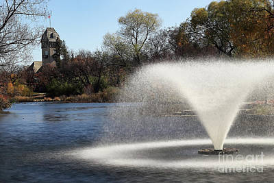 Photograph - Fuzzy Fountain by Teresa Zieba