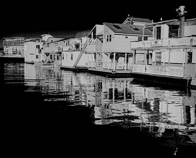 Photograph - Fisherman's Wharf - Bw by Marilyn Wilson