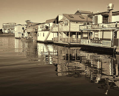 Photograph - Fisherman's Wharf - Sepia by Marilyn Wilson