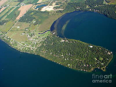 Photograph - G-025 Green Lake Wisconsin Norwegian Bay by Bill Lang