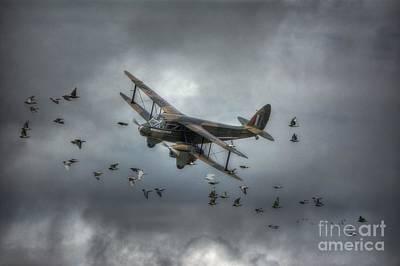 Bi Plane Digital Art - G-agjg Dragon Rapide by Nigel Bangert