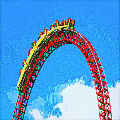 Rollercoaster Mixed Media - G Force by Dominic Piperata