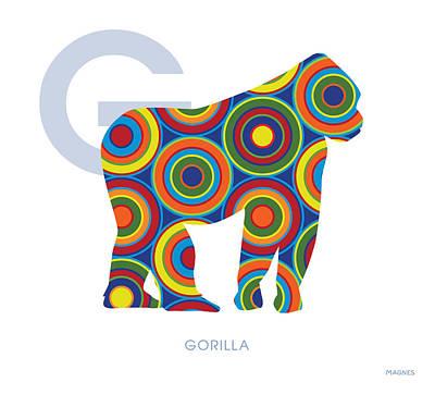 G Is For Gorilla Art Print