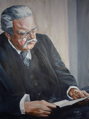 Painting - G K Chesterton by Bryan Bustard