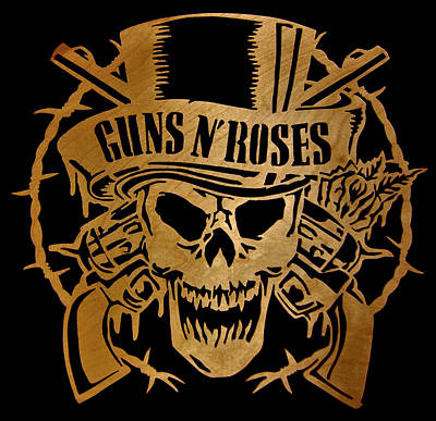 Scroll Saw Digital Art - Guns N' Roses - Scrolled by Michael Bergman