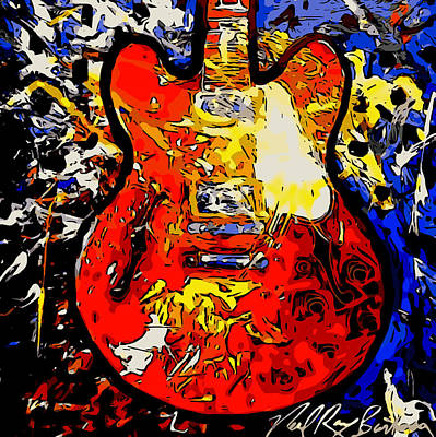 Painting - gibson ES-335 rework by Neal Barbosa
