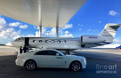 Digital Art - G500 with Rolls Royce by James Weatherly