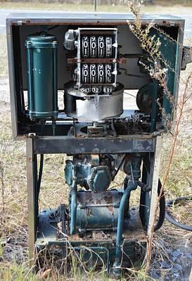 Photograph - Gas Pump Guts by rd Erickson