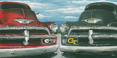 Georgia Bulldog Painting - Ga Vs Ga Tech  by James Norris