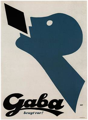 Mixed Media - Gaba Beugt Vor - Breath Candies - Vintage Advertising Poster by Studio Grafiikka