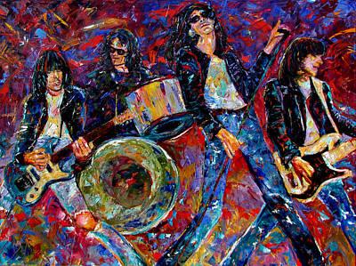 Wall Art - Painting - Ramones Gabba Gabba Hey by Debra Hurd