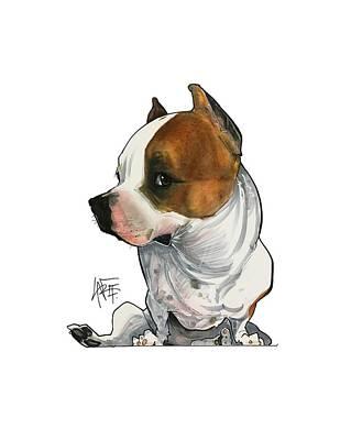 Pitbull Drawing - Gabby Minuto 3190 by John LaFree