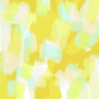 Abstract Digital Art - Gabi - Sunny Yellow Abstract Digital Painting by Allyson Johnson