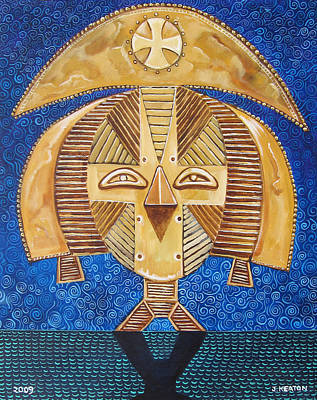 Painting - Gabon Mask - A Multi-cultural Celebration by John Keaton