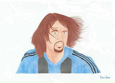 Drawing - Gabriel Batistuta by Toni Jaso