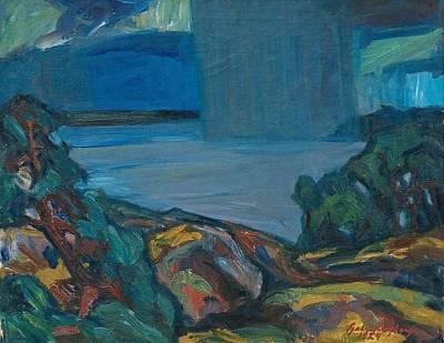 Thunder Painting - Gabriel Engberg, Thunder Rain by Celestial Images