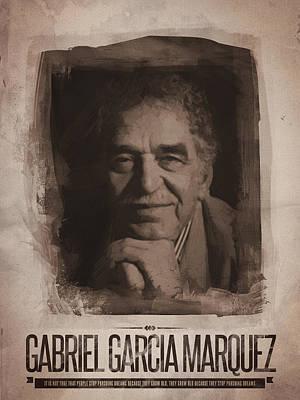 Gabriel Garcia Marquez Print by Afterdarkness