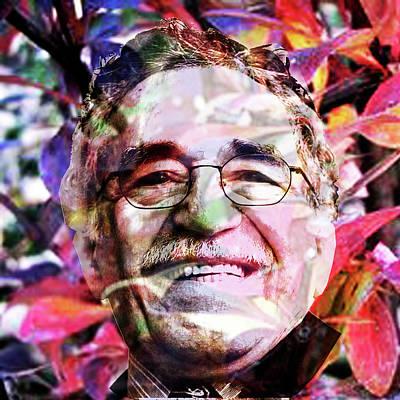 Digital Art - Gabriel Garcia Marquez by Asok Mukhopadhyay