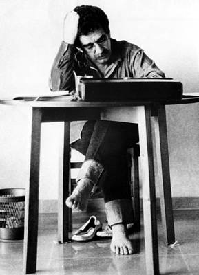 Bare Feet Photograph - Gabriel Garcia Marquez, Ca. 1970s by Everett