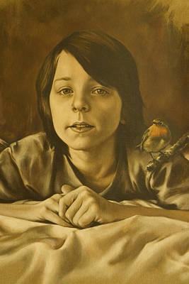 Painting - Gabriel Monotone Sketch by Tim Thorpe
