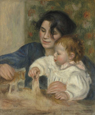 Gabrielle Painting - Gabrielle And Jean by Auguste Renoir