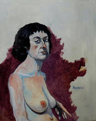 Painting - Gabrielle With Long Hair by Ray Agius