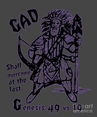 Digital Art - Gad At The Last-purple Trim by Robert Watson