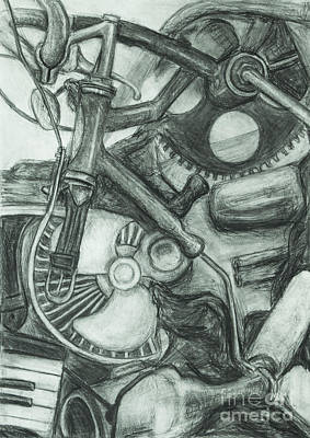 Drawing - Gadgets Of Sorts by Angelique Bowman
