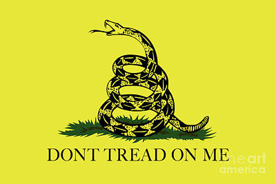 Best Sellers - Animals Digital Art - Gadsden Dont Tread On Me Flag Authentic version by Bruce Stanfield