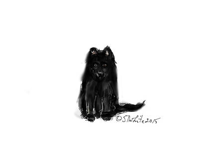 Maine Farms Drawing - Gaea As A Puppy by Little Dove  Doodles